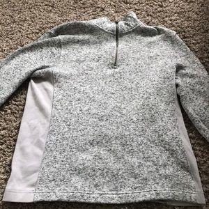 Medium knit men's sweater grey